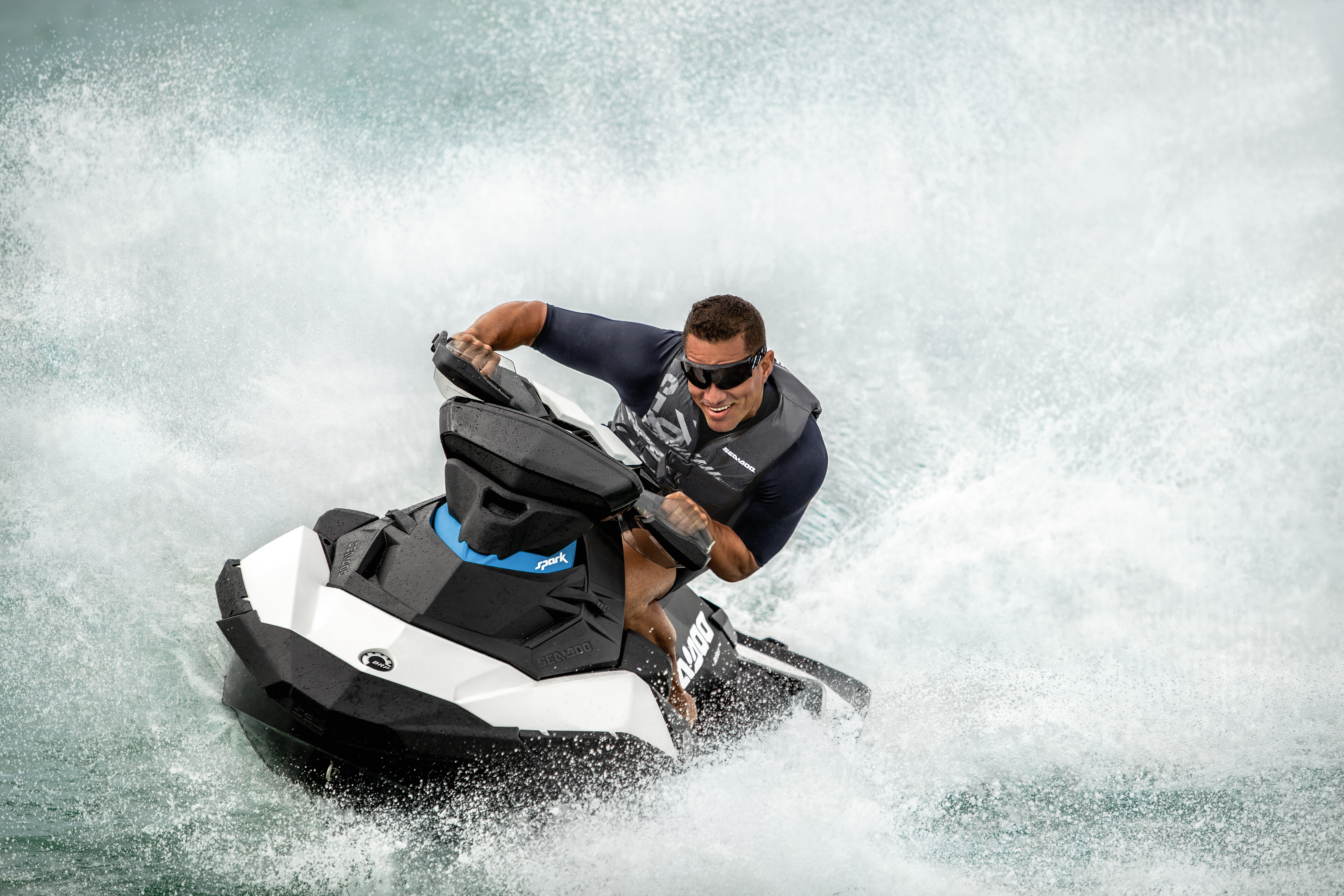 2019 Sea-Doo SPARK® 3-up Rotax 900 HO with iBR & Convenience Package -  Vanilla & Blueberry